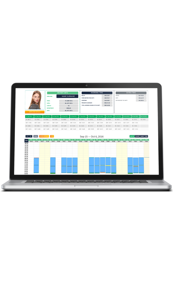 cloud web time and attendance reports