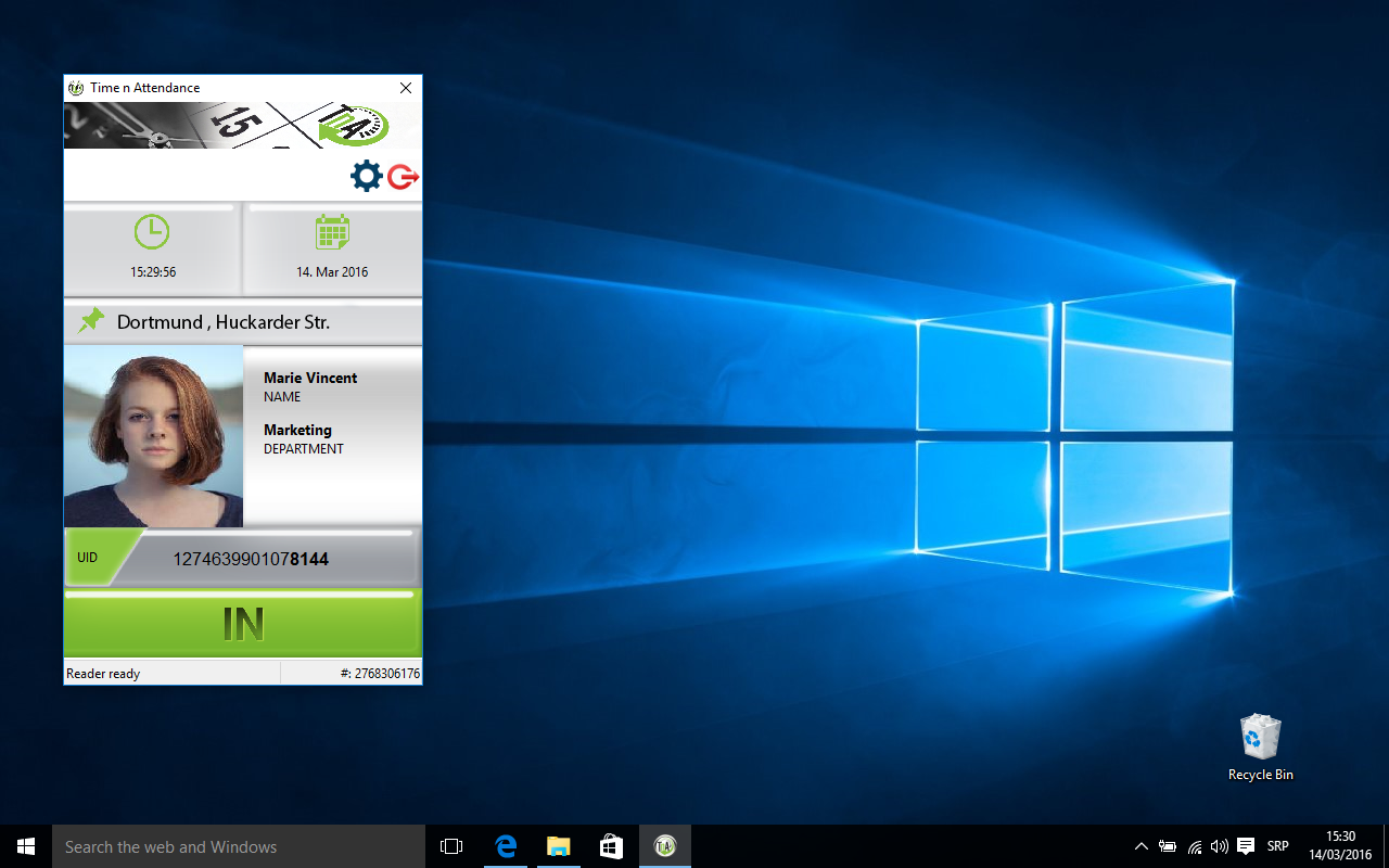 Download Time and Attendance apllication for desktop windows variant